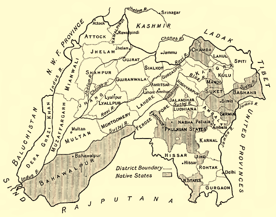 Punjab-Districts 1911 - Radcliffe Line - Wikipedia | Old