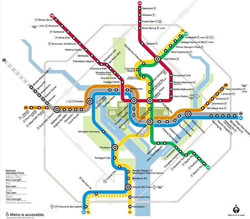 WMATA has released its next Metrorail map proposed to go into