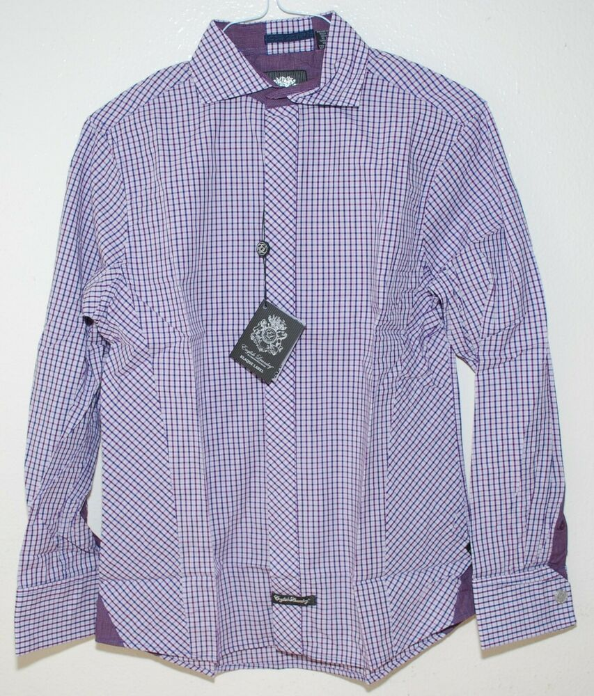 English Laundry Blaque Label Mens Dress Shirt Collared French