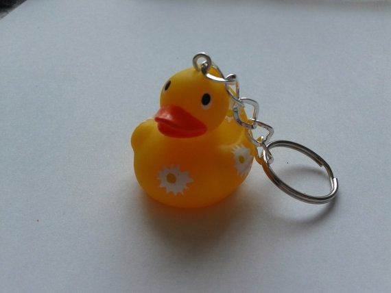 yellow star rubber duck toy figure keychain by simplyproducts | etsy ...