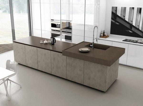 Cuisine Avec îlot Central Idées Inspirations Ilot Central - Grande table moderne pour idees de deco de cuisine