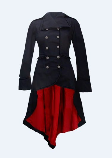 It's the Vodabox ladies coat from kinky angel clothing.
