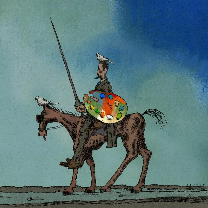 Brad Holland   Sleeping Giant   Drawings, Moose art, Artwork