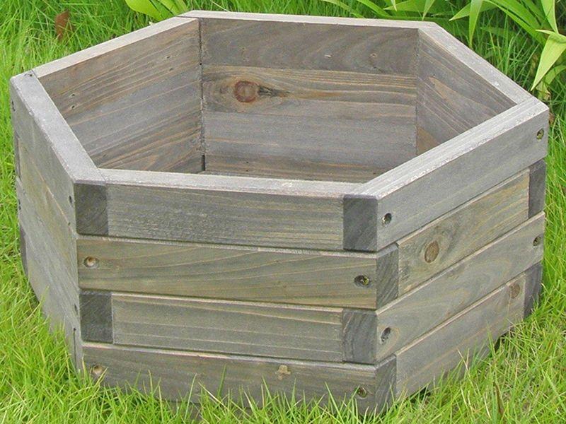 How To Make A Hexagonal Wooden Planter Diy Wooden Planters Wooden Planters Wood Planters