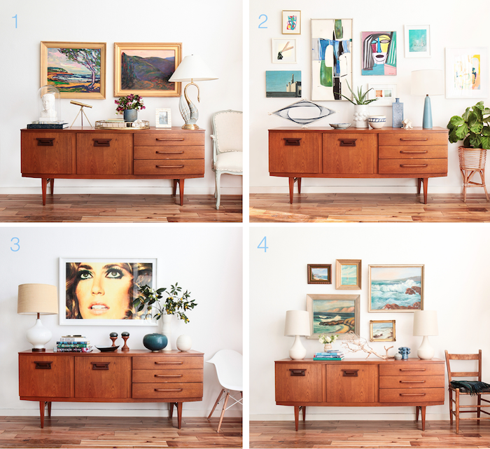 surprising modern living room credenza | 1 Credenza 4 Ways: Midcentury Coastal and A VOTE ...