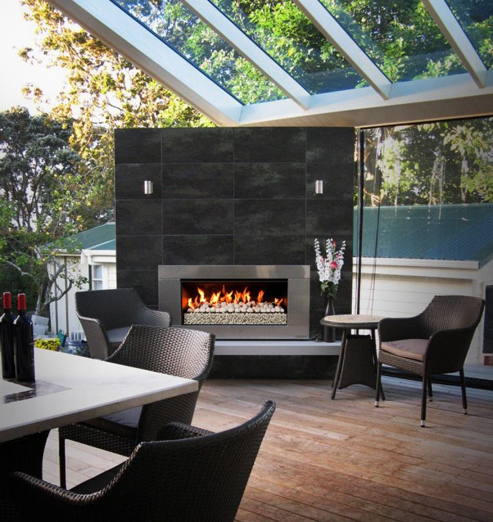 Urban Villa Extension With Escea Outdoor Fireplace
