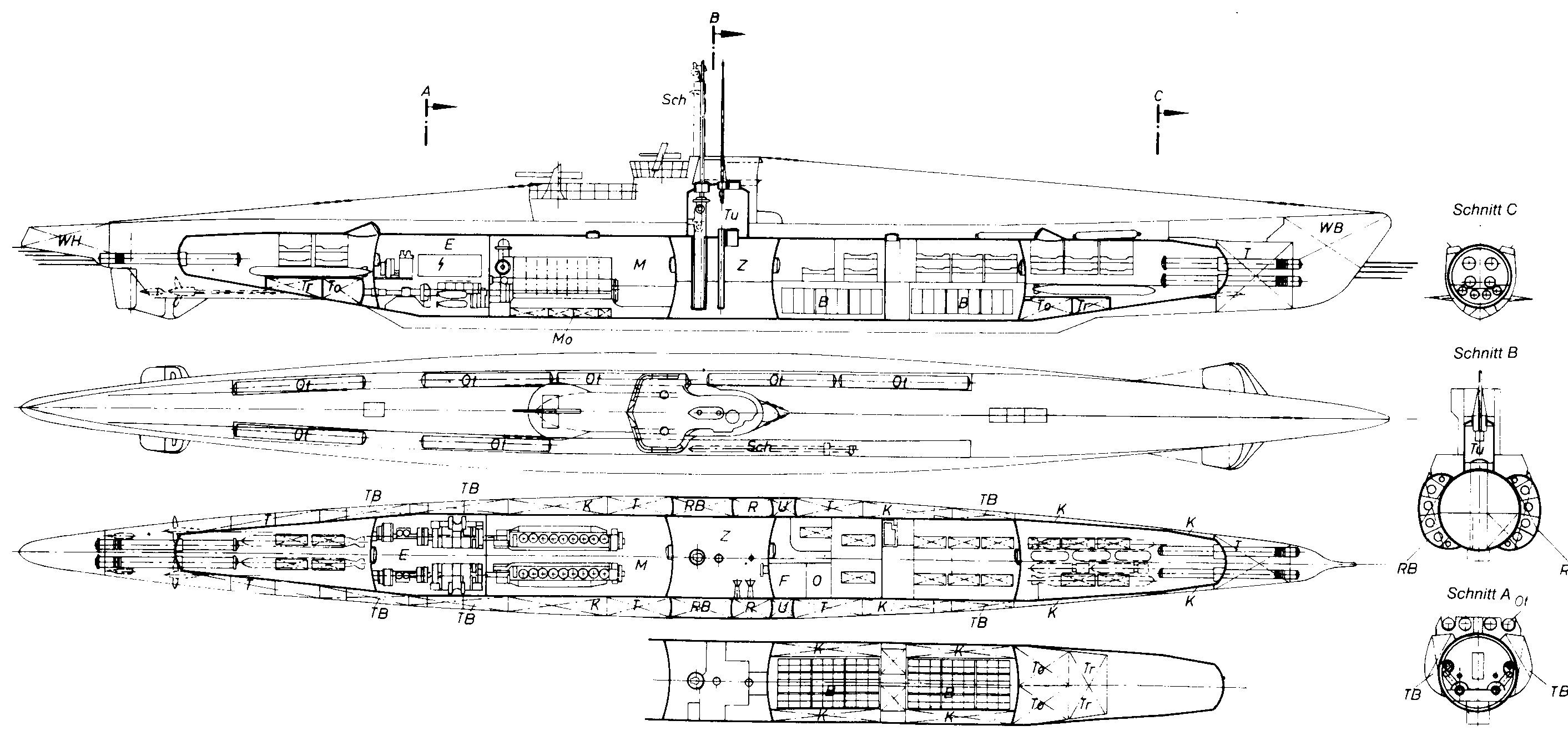 interior german u boat diagram wiring diagram pass interior german u boat diagram [ 2825 x 1327 Pixel ]