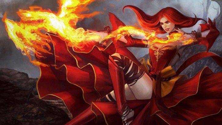 lina the slayer dota 2 hd girl fire wallpaper 1920 1080 dota 2