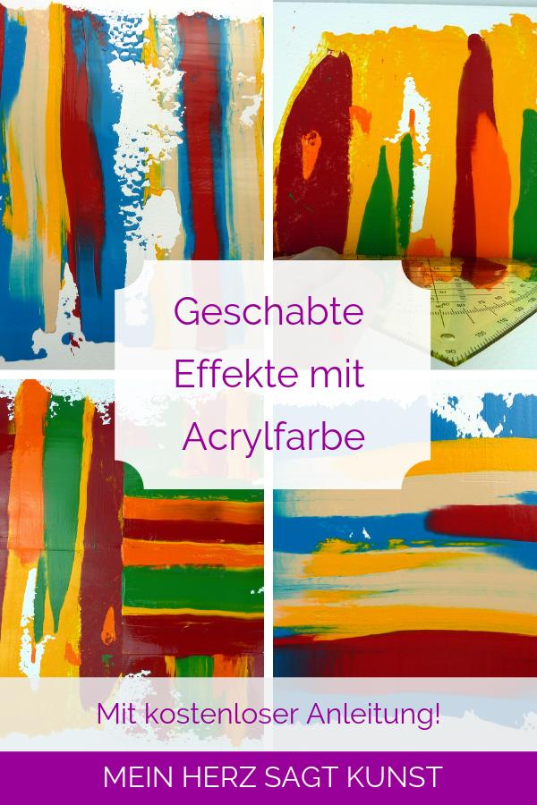 acrylfarben effekte
