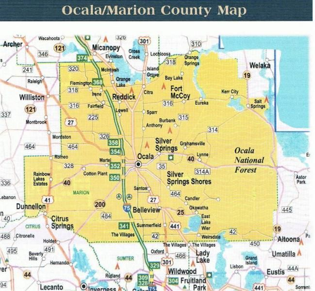 Maps Of Marion County Florida Ocala Marion County Map Maps - Map of florida showing counties