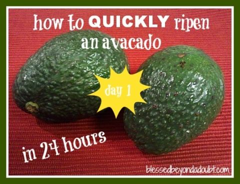 How To Ripen An Avocado In 24 Hours Blessed Beyond A Doubt How To Ripen Avocados Avocado Real Food Recipes