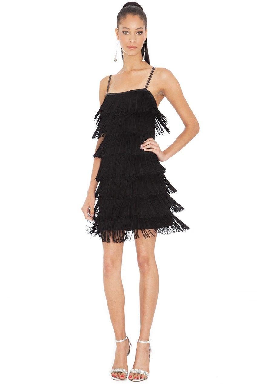Gatsby-20\'s-Flapper-Fringe-Mini-Dress-Black-D983-5 | Roaring 20s ...