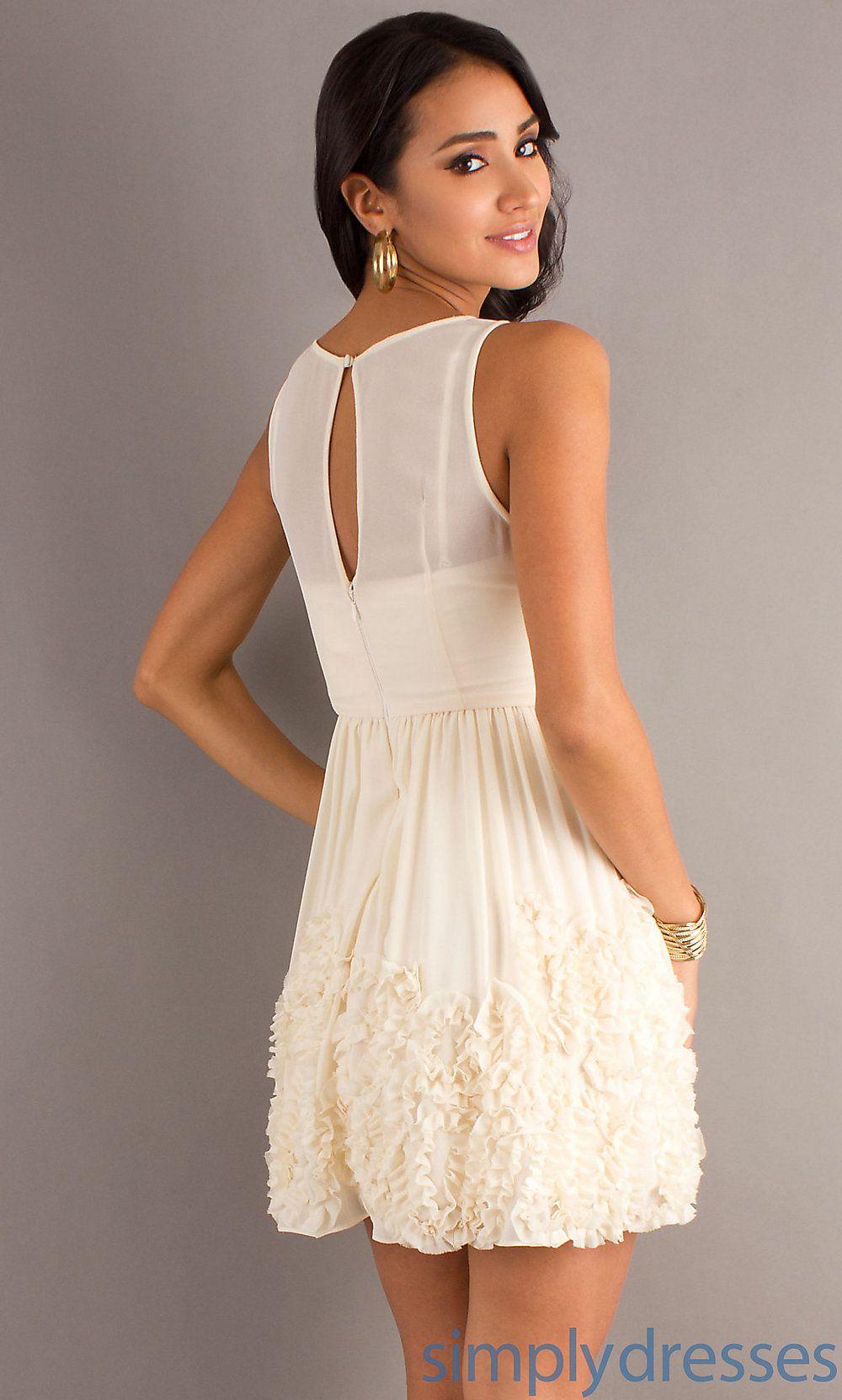 High neck short dress short graduation dresses simply dresses