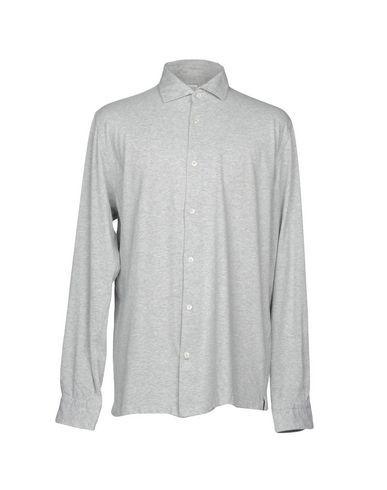 BARBA Napoli Men's Shirt Light grey 17 ½ inches-neck