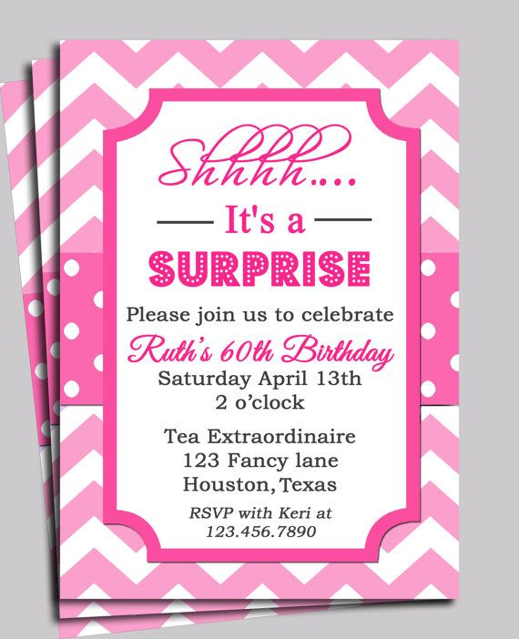 Chevron Invitation Printable Or Free Shipping You Pick Wording Bridal Wedding Or Baby Shower Birthday Or Any Tea Party Baby Shower Invitation Cards Baby Shower Invitation Wording Surprise Baby Shower Invitation