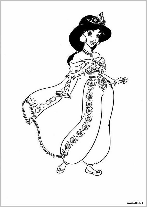 Раскраски для девочек принцессы Диснея 2016 | Coloring ...