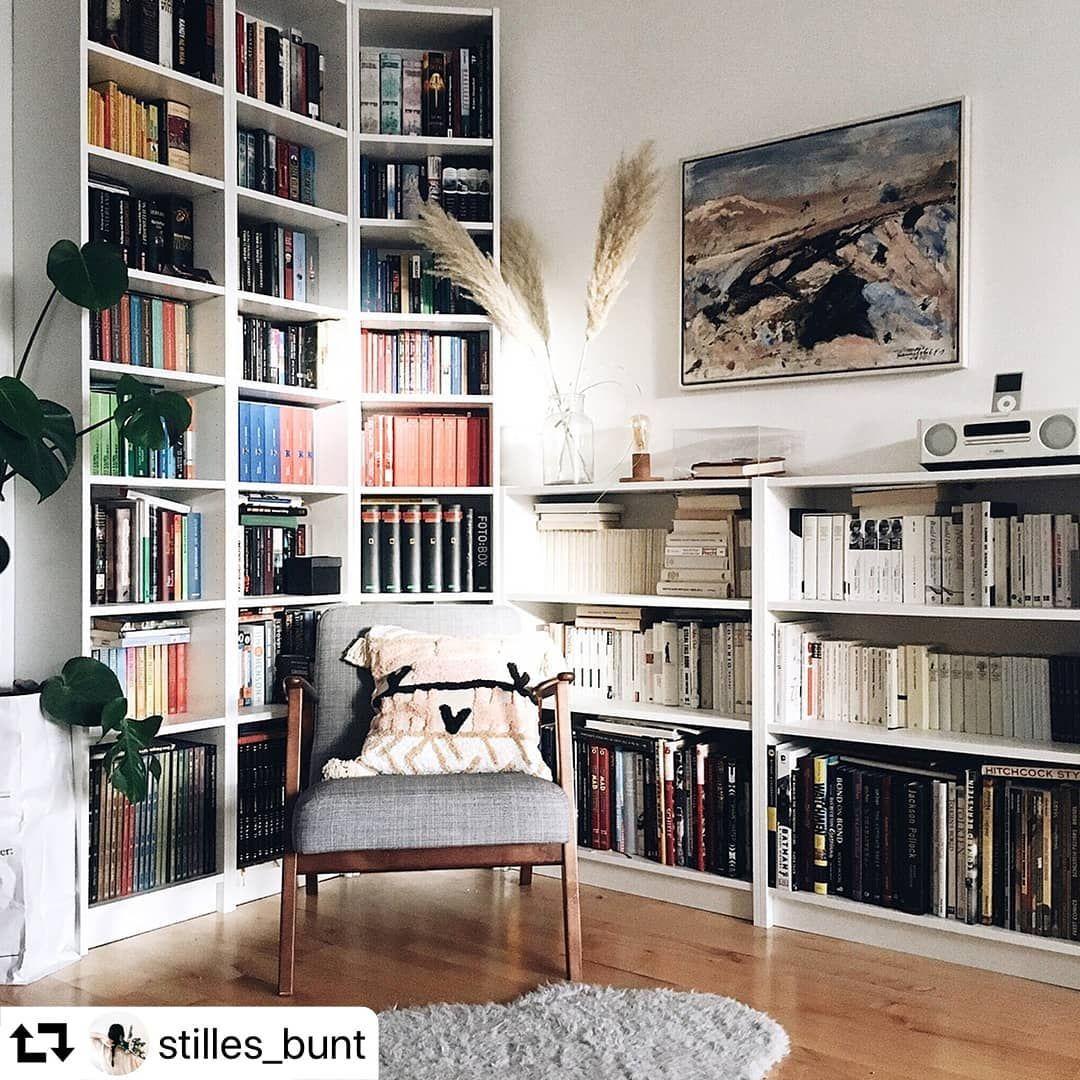 Ikea Austria On Instagram Die Leseecke Von Stilles Bunt Hat Bestimmt Viele Geschichten Zu Erzahlen Ikea Leseecke Billy Bucherregal Bucherregal Weiss