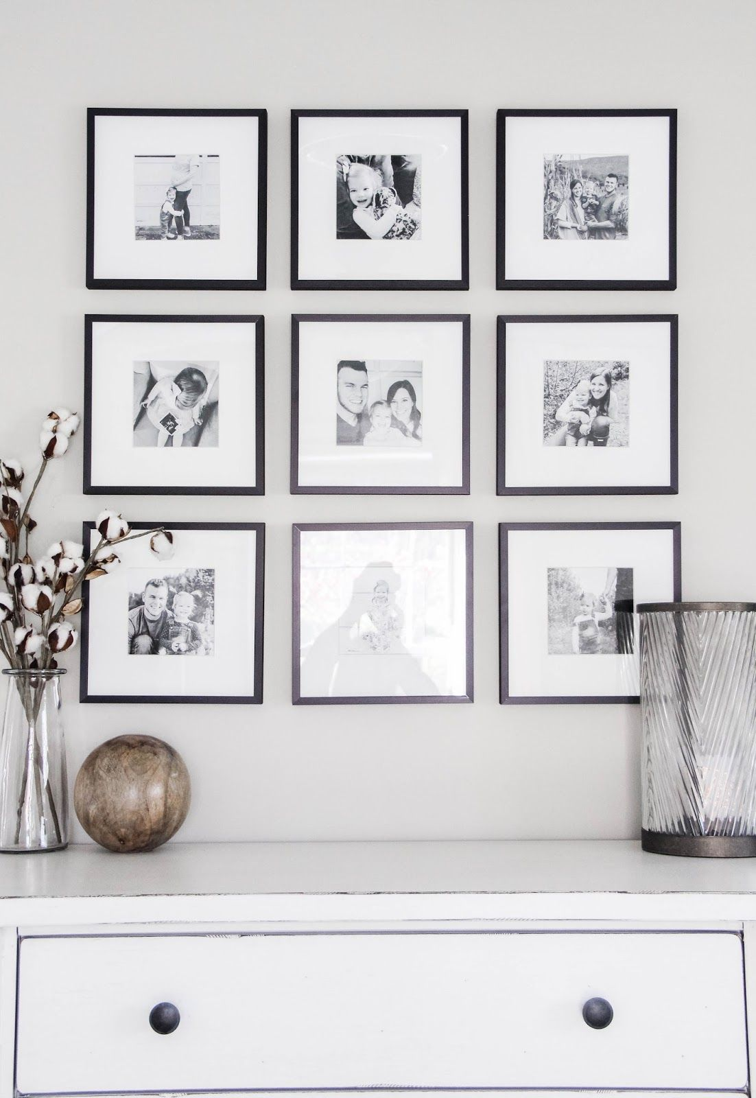Master Bedroom Black White Gallery Wall In 2020 Bedroom Black Gallery Wall Black White Photo Wall