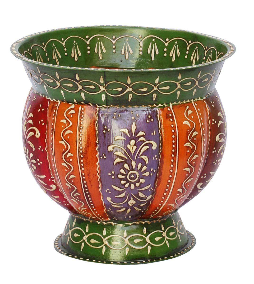 "Bulk Wholesale Handmade Pumpkin Shaped 7.4"" Flower Vase"