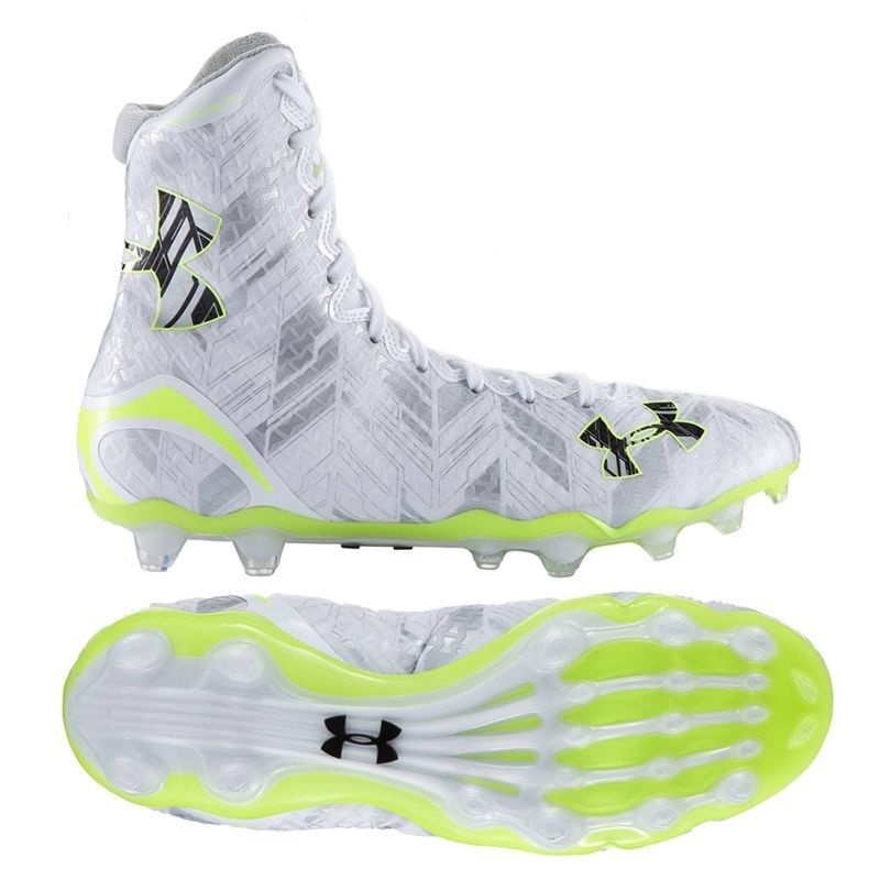 4db4d163435 UNDER ARMOUR HIGHLIGHT MC LAX Football Lacrosse Cleats MENS 1264188 102 NEW   UnderArmour  LacrosseCleats