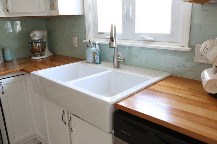 Ikea Domsjo Farmhouse Sink 1 Year Review Weekend Craft In 2020 Ikea Farmhouse Sink Diy Kitchen Renovation Ikea Farmhouse