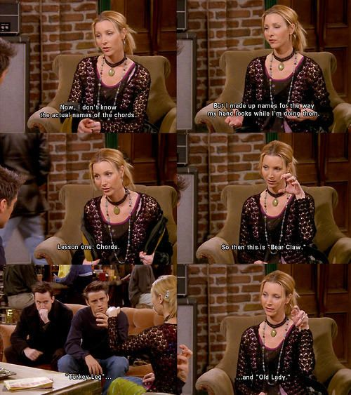 The guitar chord names according to Phoebe Buffay! | FRIENDS ...