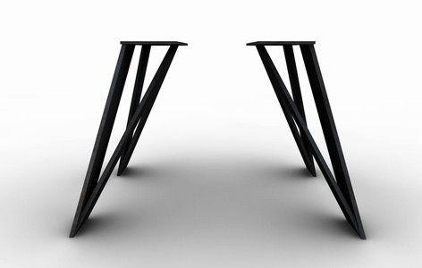 industriedesign tisch untergestell zigzag one tischbeine hocker. Black Bedroom Furniture Sets. Home Design Ideas