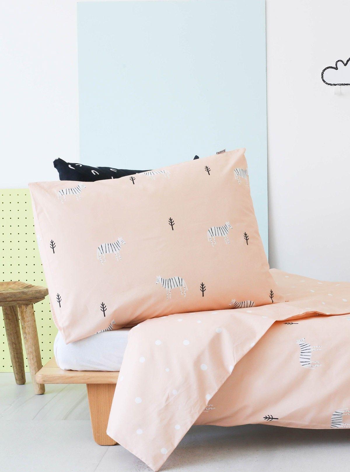 Juego funda nórdica + funda de almohada Safari with Zebras para cama de 90