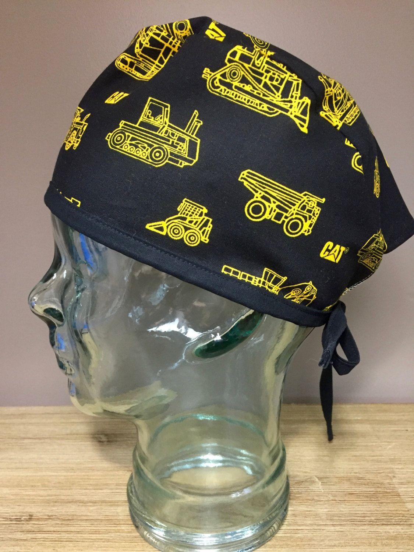 Custom Caps Company Black Construction Mens Scrub Cap 829a53cc9f9
