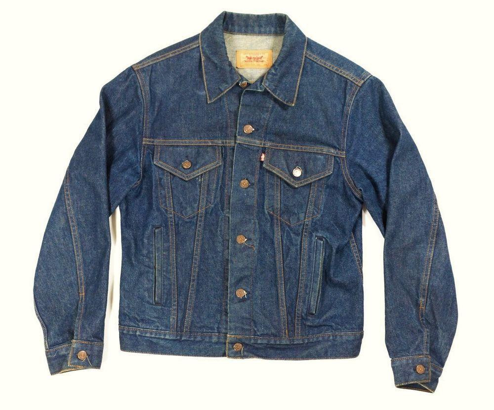 Vintage Levis Trucker Blue Jean Denim Jacket Single Stitch Red Label 44r L Xl Levis Trucker Denim Coat Jacket Big Tall Jeans Mens Big And Tall [ 829 x 1000 Pixel ]