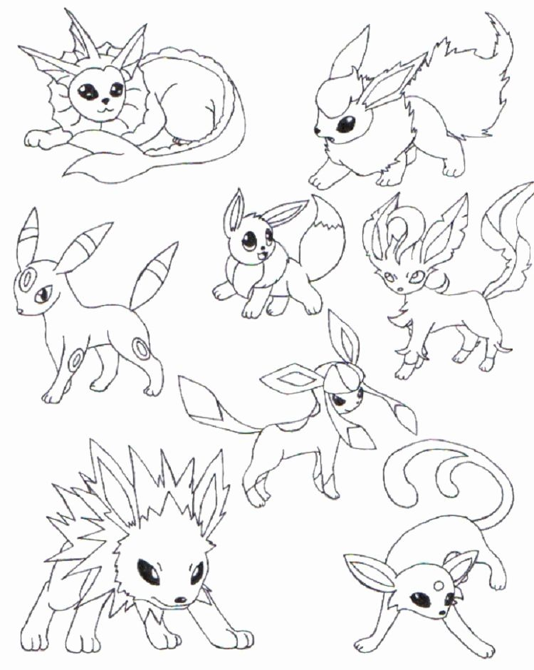 Pokemon Eve Coloring Pages For Kids Pokemon Coloring Pages Pokemon Coloring Pokemon Coloring Sheets