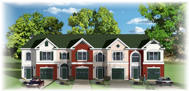 4 plex 3 with good floor plan apartment house plan for Apartment plans 4 plex