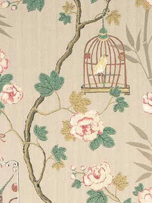 DecoratorsBest - Detail1 - GPJ BW45004-4 - SONGBIRD SILVER/ROSE - Wallpaper - DecoratorsBest