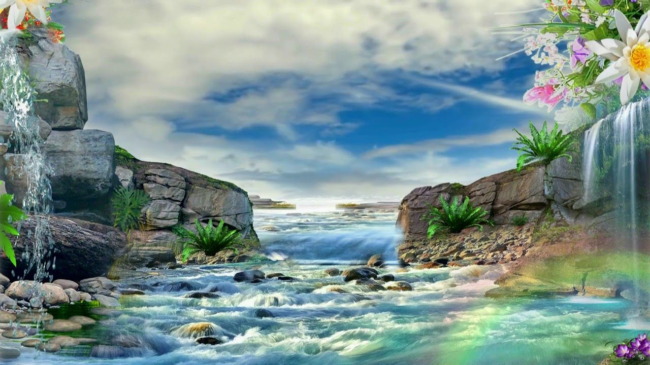 Beautiful 3d Animation With Mountain River 3d Background Video Effects Photo Album Design 3d Background Background