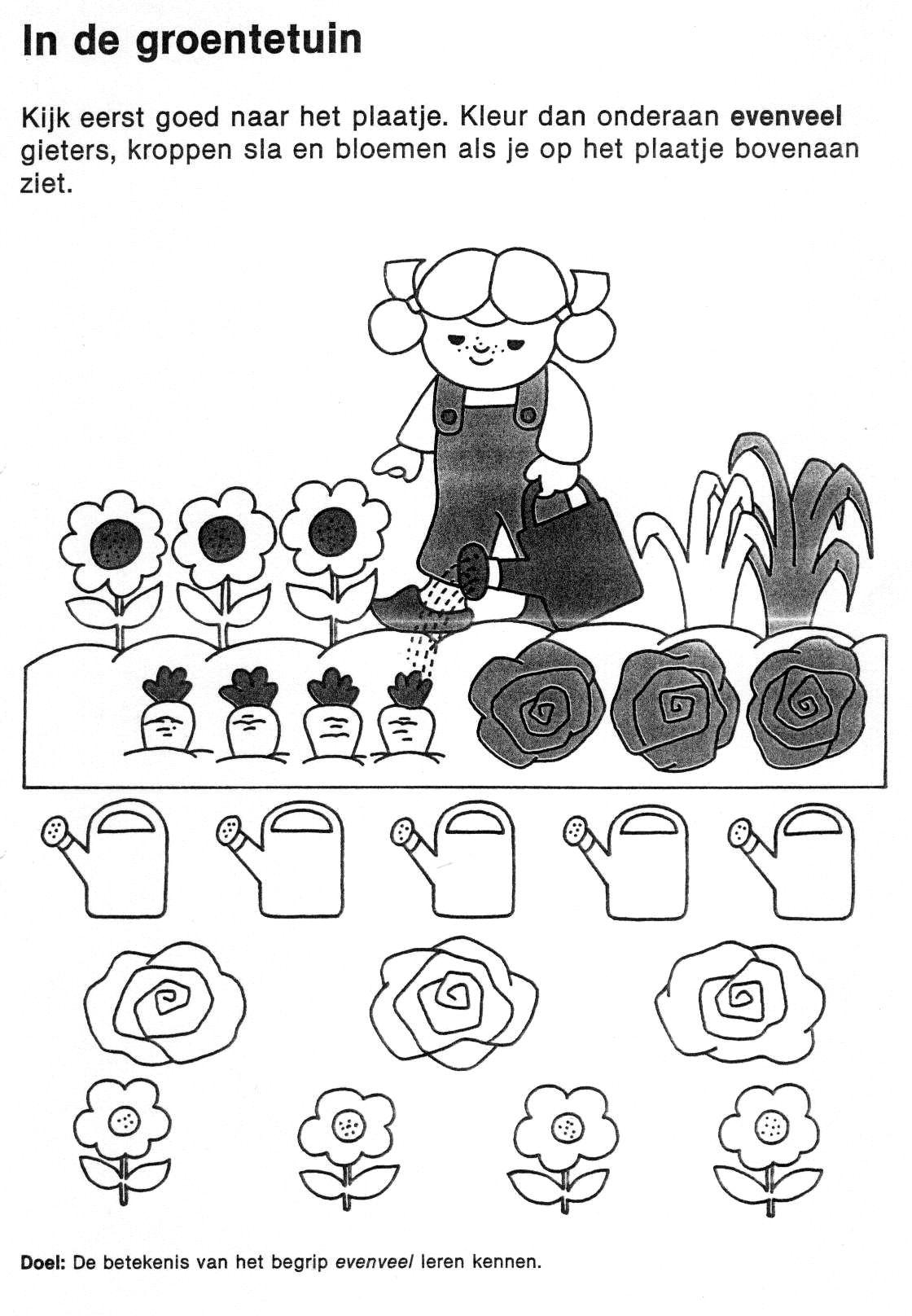 Kleuterdigitaal Wbb In De Groentetuin Groentetuin Thema Tuin En Dier