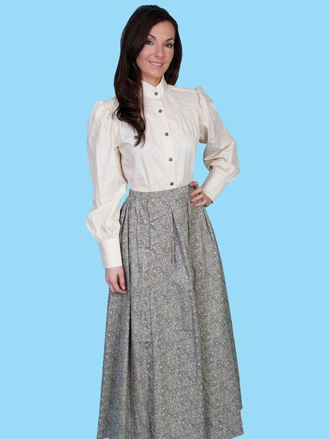 1870s Prairie Skirt And Victorian Old West Blouse 1800s Clothing