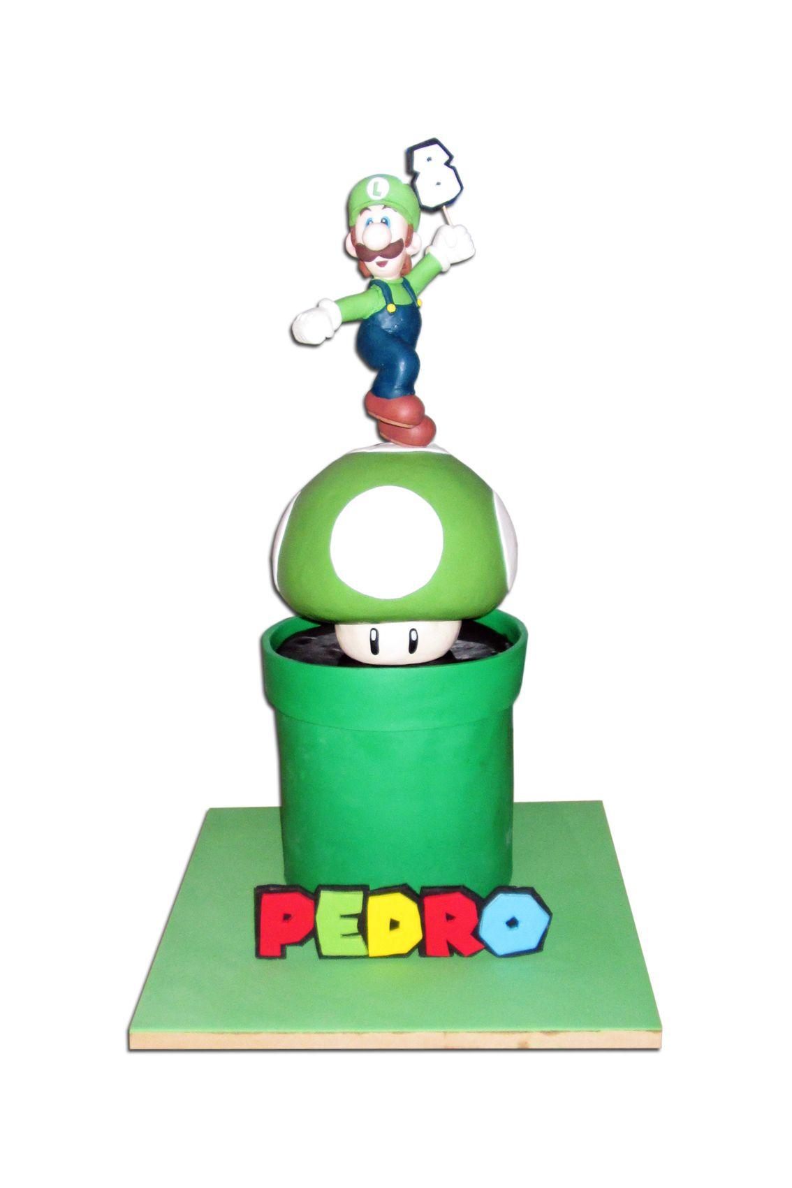Tarta Luigi Luigi Cake Mario Bros