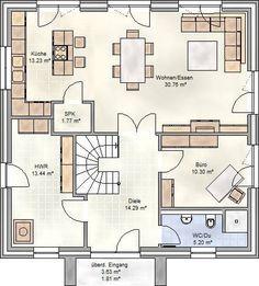 art 155 mediterraner stadtvilla grundriss mit ber 150 qm wohnfl che mimari planlar. Black Bedroom Furniture Sets. Home Design Ideas