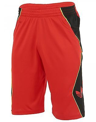 6e2efaf44 Adidas Trefoil Hoop Shorts Mens M69025 Red Black Basketball Apparel Size 3XL