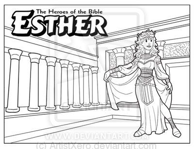 bible stories esther coloring page - Esther Bible Story Coloring Pages