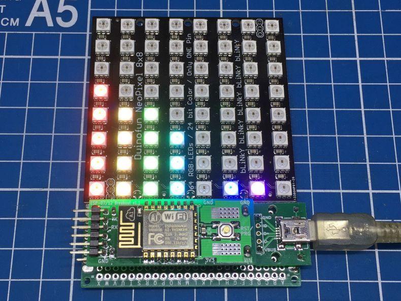 Seeed Recipe - WiFi Audio Spectrum Analyzer   ESP8266   Spectrum
