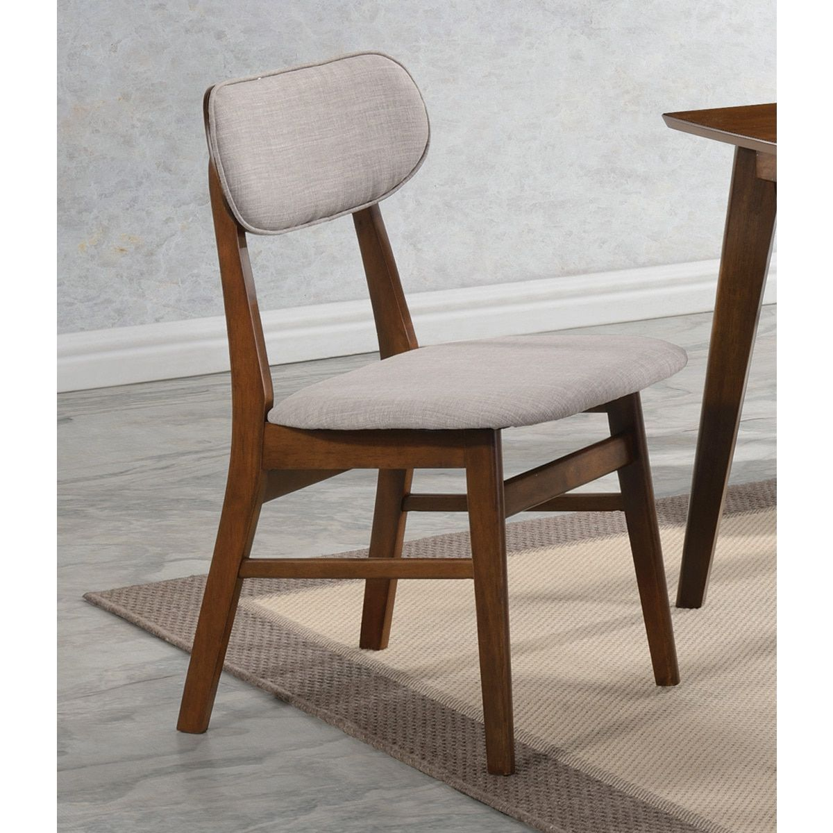 Coaster chestnut finish wood upholstered dining chair products