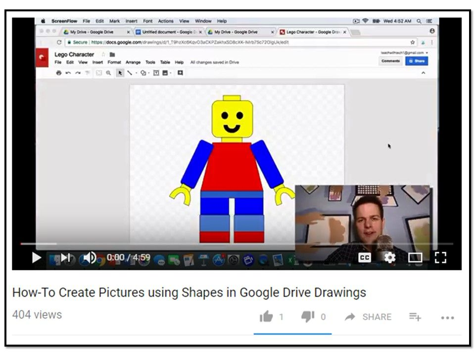 How to Create Pictures using Shapes in Google Drive