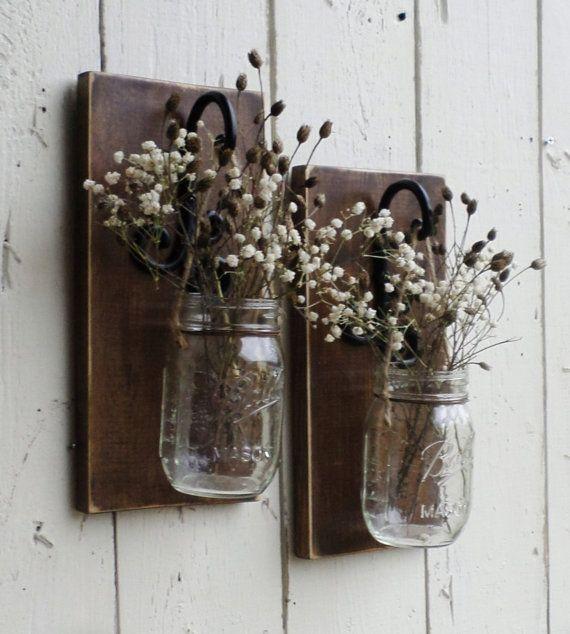 Mason Jar Wall Decor Pinterest : New rustic farmhouse wood wall decor individual