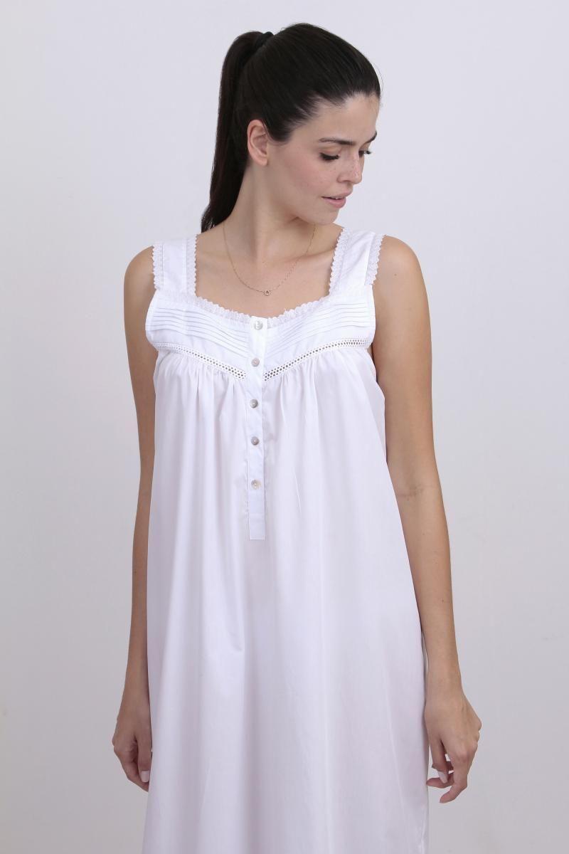 Camisola Bel 100% cambrai de algodão