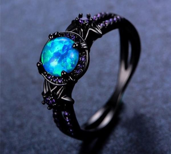 4adbeb5ca9 Beautiful Vintage Black Gold Opal Ring. Comes in sizes 6