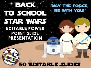 Star Wars Powerpoint Template | Back To School Presentation Template Powerpoint Star Wars Back