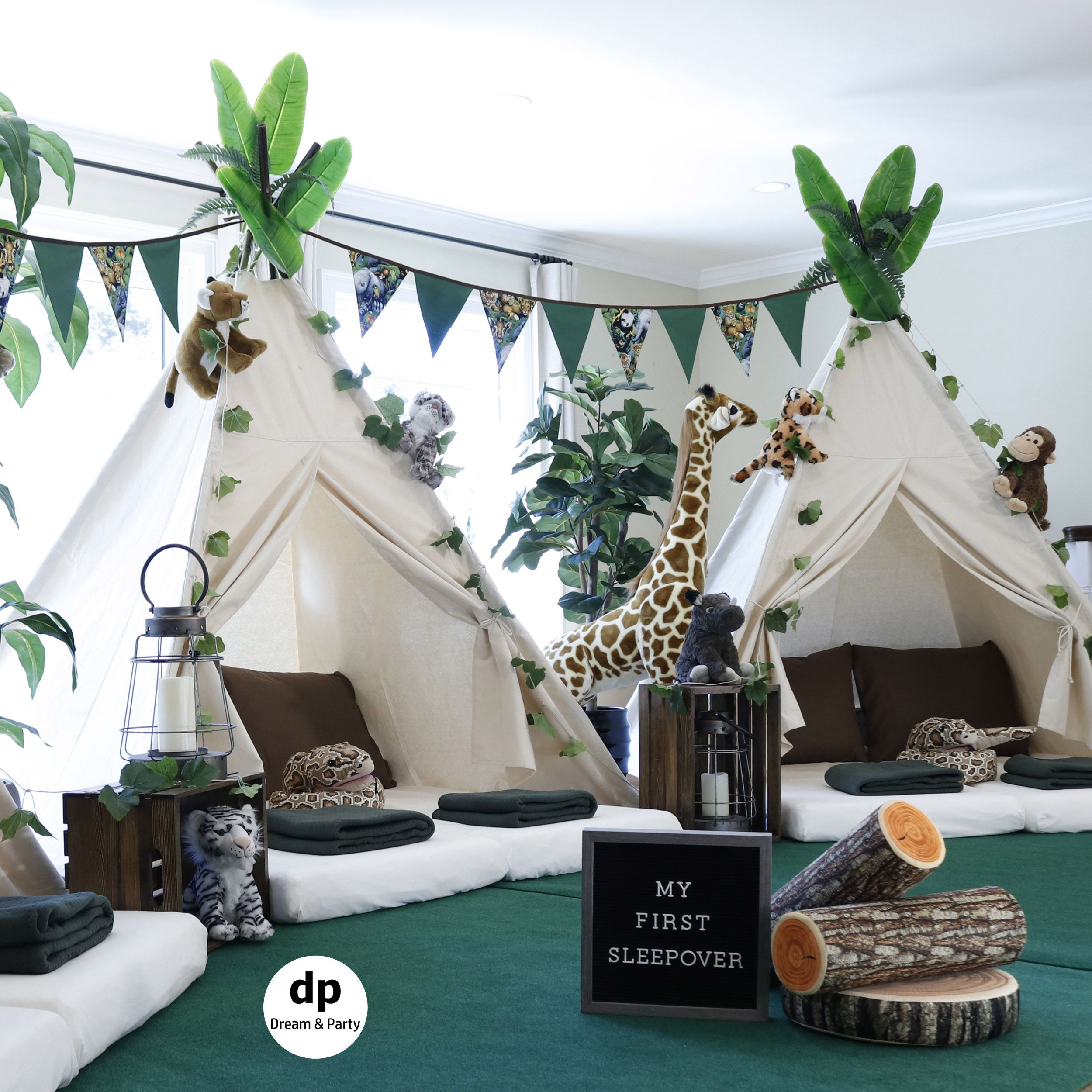 Safari Sleepover Party Birthday Party Ideas Teepee Party