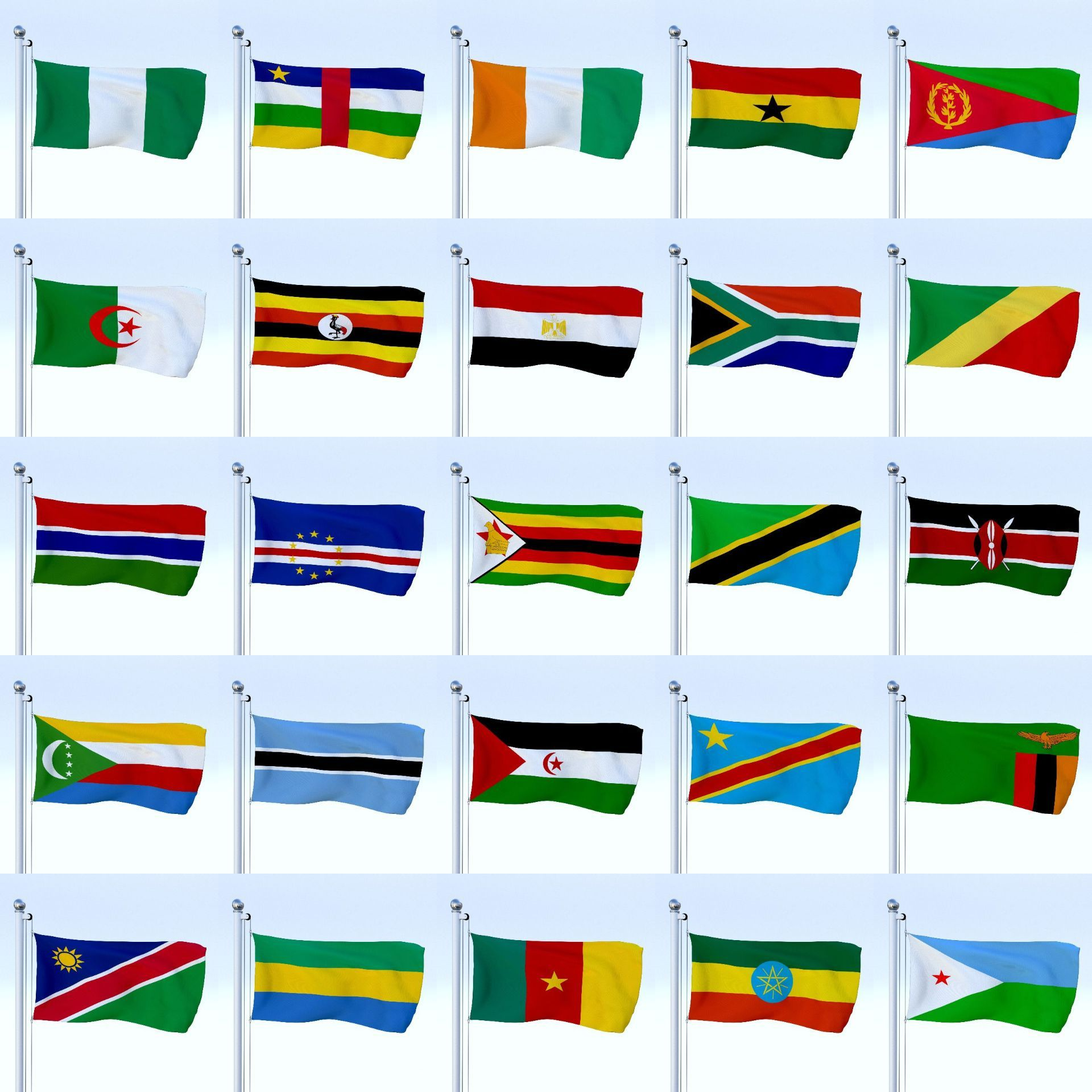 All African Flag Pack African Flag Pack African Flag Architecture Drawing African House