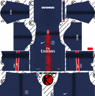 beb0b75f1 Paris Saint-Germain (PSG) 2018 19 Kit - Dream League Soccer Kits ...